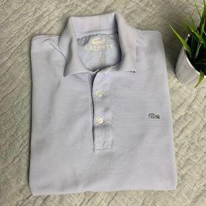 Lacoste men polo shirt vintage wash